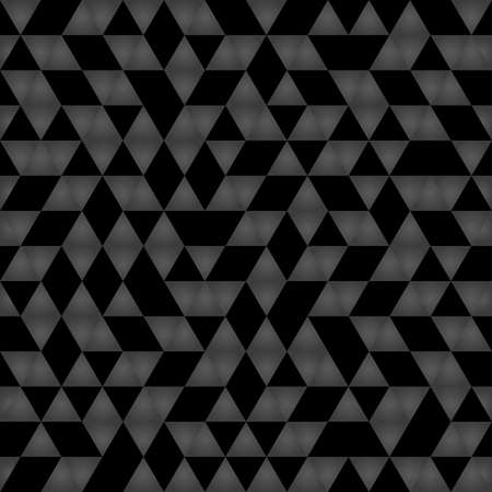 Geometric pattern with dark triangles. Geometric modern ornament. Seamless abstract background Stockfoto
