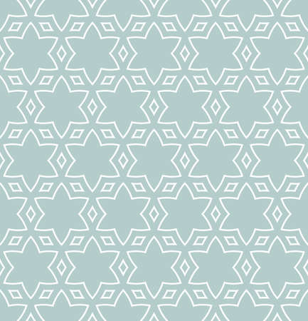 Seamless background for your designs. Modern light blue and white ornament. Geometric abstract pattern