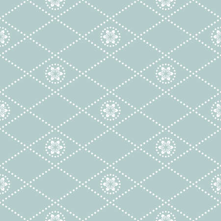 Geometric abstract vector pattern. Geometric modern dotted light blue and white ornament. Seamless modern background Stock Illustratie