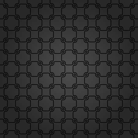 Seamless vector dark ornament. Modern geometric pattern with repeating elements Stock Illustratie