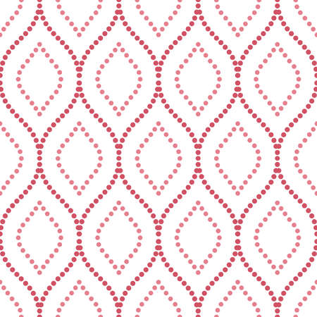 Seamless vector ornament. Modern background. Geometric modern dotted red and pink pattern Stock Illustratie