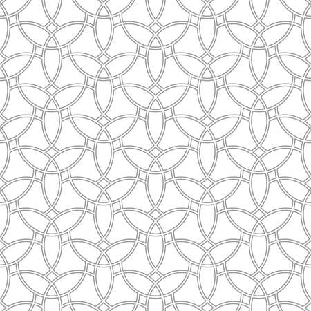 Seamless vector ornament. Modern light background. Geometric modern pattern