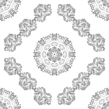 Orient vector classic light silver pattern. Seamless abstract background with vintage elements. Orient background. Ornament for wallpaper and packaging