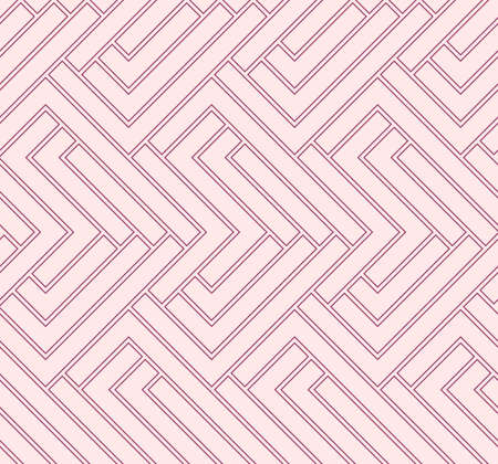 Geometric vector pattern with purple and pink arrows. Geometric modern ornament. Seamless abstract background Stock Illustratie