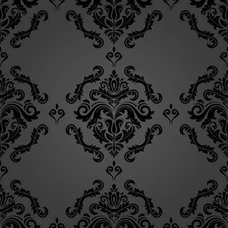 Classic seamless vector pattern. Damask orient dark ornament. Classic vintage background. Orient ornament for fabric, wallpaper and packaging