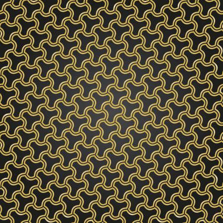 Seamless ornament. Modern background. Geometric modern black and golden pattern Stockfoto