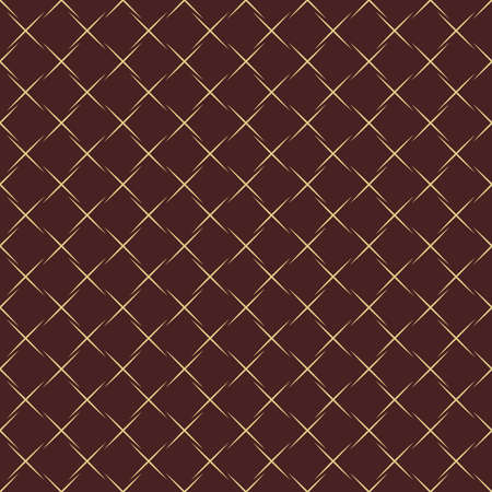 Geometric abstract pattern. Geometric modern brown and golden ornament. Seamless modern background