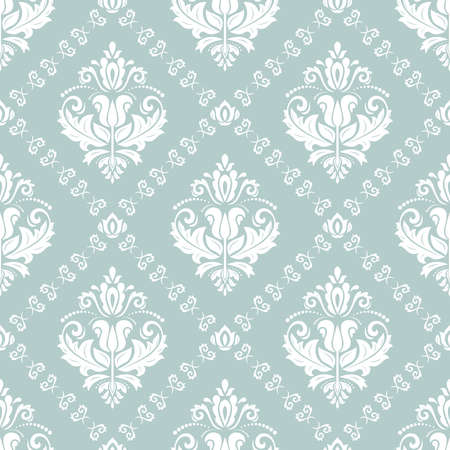 Orient classic pattern. Seamless abstract background with vintage elements. Orient light blue and white background. Ornament for wallpaper and packaging