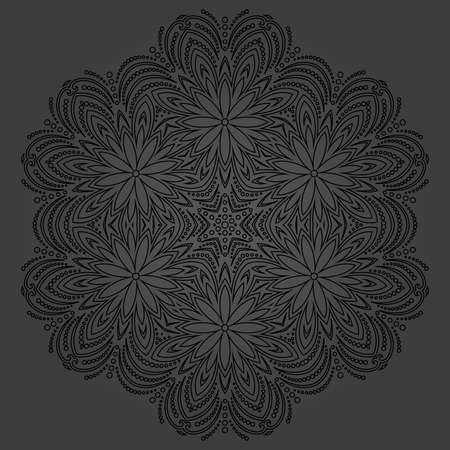 Elegant vintage ornament in classic style. Abstract traditional dark pattern with oriental elements. Classic vintage pattern