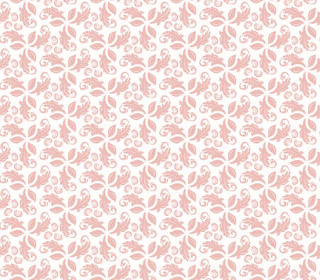 Floral ornament. Seamless abstract pink classic background with flowers. Pattern with repeating floral elements. Ornament for fabric, wallpaper and packaging