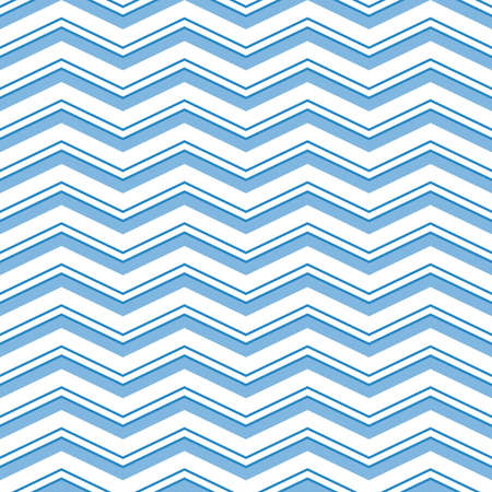 Seamless vector ornament. Modern background. Geometric modern pattern with blue zigzags Stock Illustratie