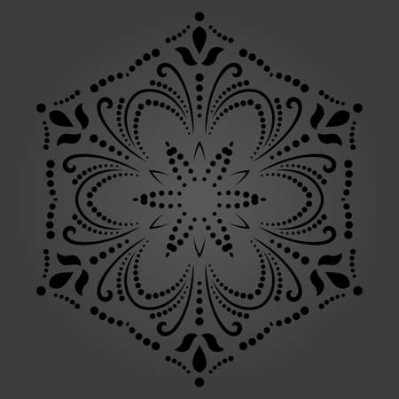 Classic seamless vector pattern. Damask orient dark round ornament. Classic vintage background. Orient ornament for fabric, wallpaper and packaging Stock Illustratie