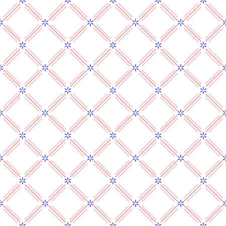 Geometric abstract vector pattern. Geometric modern dotted colored ornament. Seamless modern background Stock Illustratie