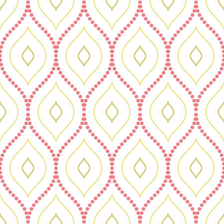 Seamless vector ornament with wavy dotted elements. Modern background. Geometric modern pattern