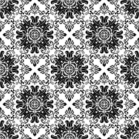 Orient vector classic pattern. Seamless abstract background with vintage black and white elements. Orient background. Ornament for wallpaper and packaging