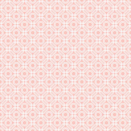 Geometric abstract vector octagonal background. Geometric abstract pink ornament. Seamless modern pattern Stock Illustratie