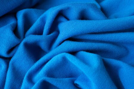 emplate: clothing laundry fabric close up blue factory Stock Photo