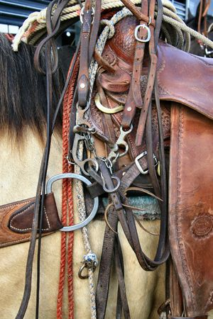 Tack for the horse and cowboy