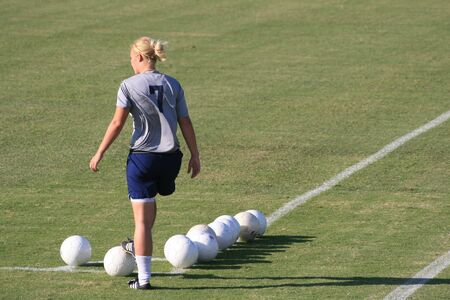 female college soccer player