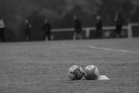 holgaz�n: Inactivo Rugby artes Foto de archivo