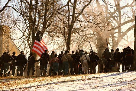 reenactment: Civil War Stock Photo