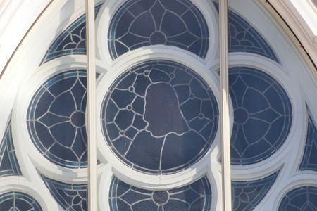 Stained glass window of a church Banco de Imagens