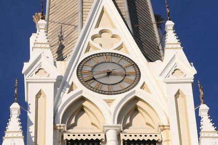 Clock on church building