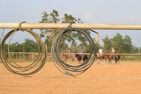 Warming up for team roping
