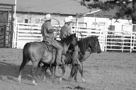 Ranch rodeo team of cowboys