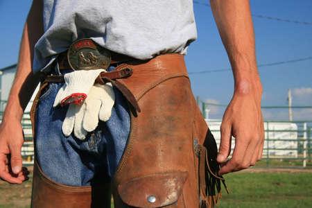 working cowboy: Working cowboy wear Stock Photo