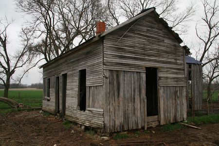 dwelling: Abandoned country dwelling Stock Photo