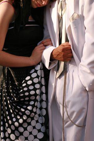 Prom couple photo