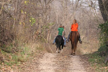 dirtroad: Teenagers horseback riding