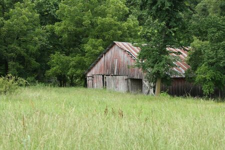 recollections: Barns, essential vintage landmarks Stock Photo