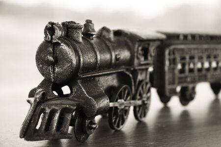 Vintage cast iron toy train Reklamní fotografie
