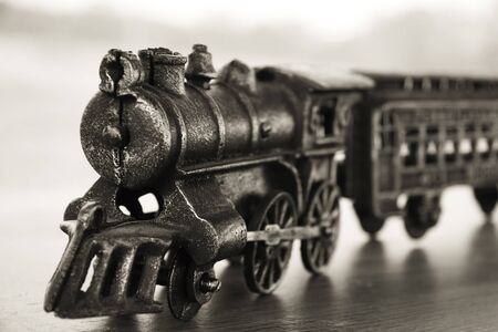 Vintage cast iron toy train Stock Photo