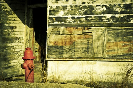 ghost town: A lonely ghost town Stock Photo