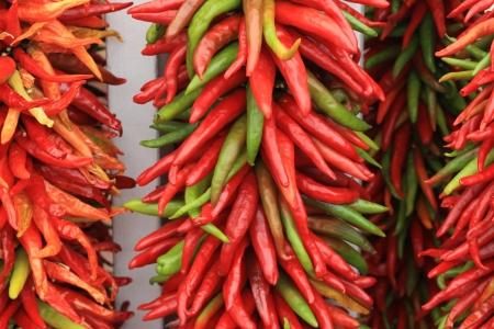 chiles secos: Cadena de chiles