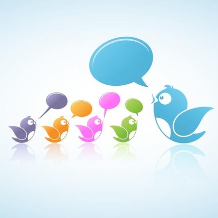 chat room: Illustration of Social Media Illustration