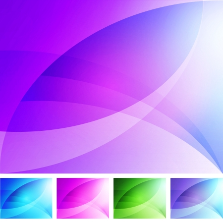 green background: Set of Colorful Abstract Backgrounds Illustration