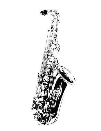Saxophone Иллюстрация