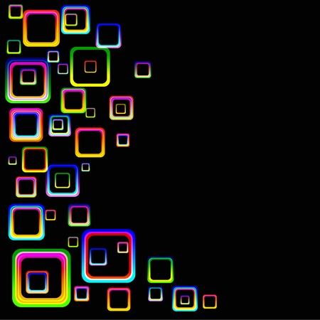 Abstract Colorful Squares Background Illustration