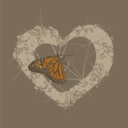 Butterfly Heart Background