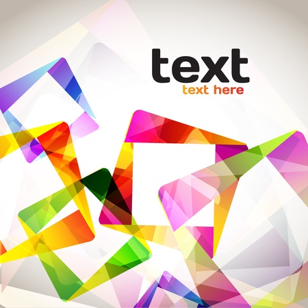 Colorful Abstract Squares Illustration