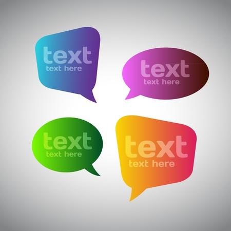 speech bubble: Colorful Speech Bubbles Illustration