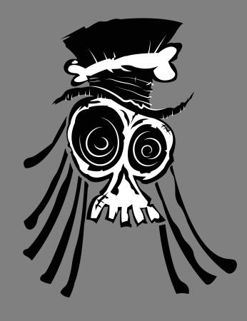 Voodoo Skull Illustration