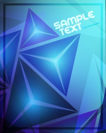 Blue Abstract Background Stock Vector - 20763004