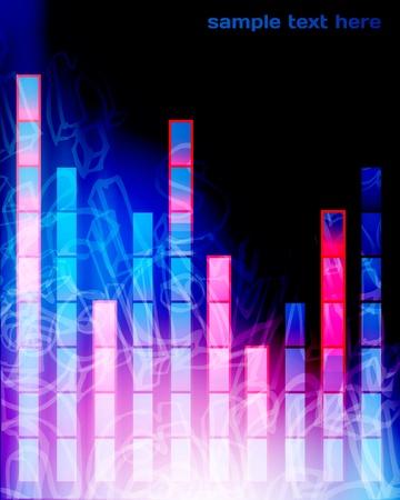 equaliser: Colorful Music Equalizer Background