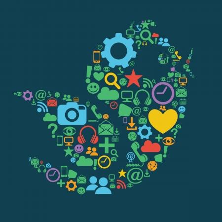 Social Media Bird Vector