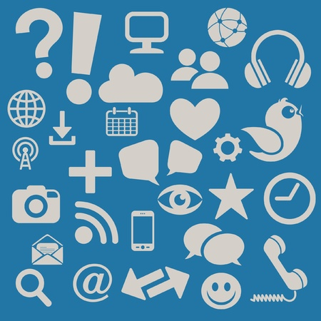 Social Media Icons Ilustrace